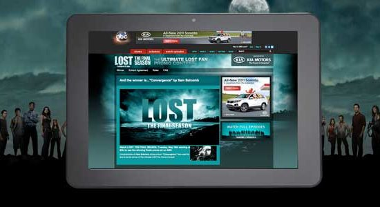 ABC LOST Sweepstake Landing Page on Tablet