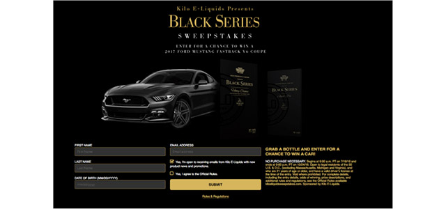 Kilo E-Liquid Black Series Sweepstakes